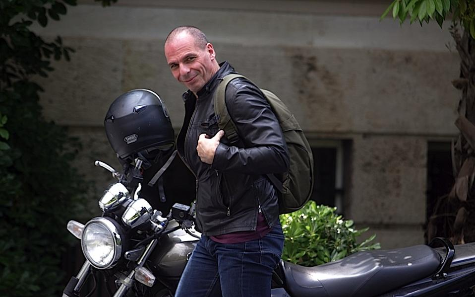 Image result for yanis varoufakis motorcycle pic