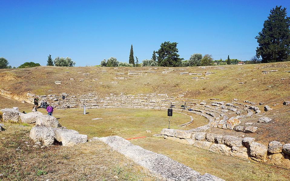 The ancient theater of Eretria.