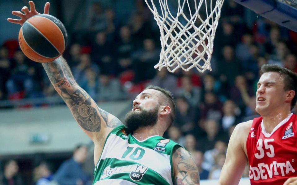 Miroslav Raduljica scored 21 points for Panathinaikos