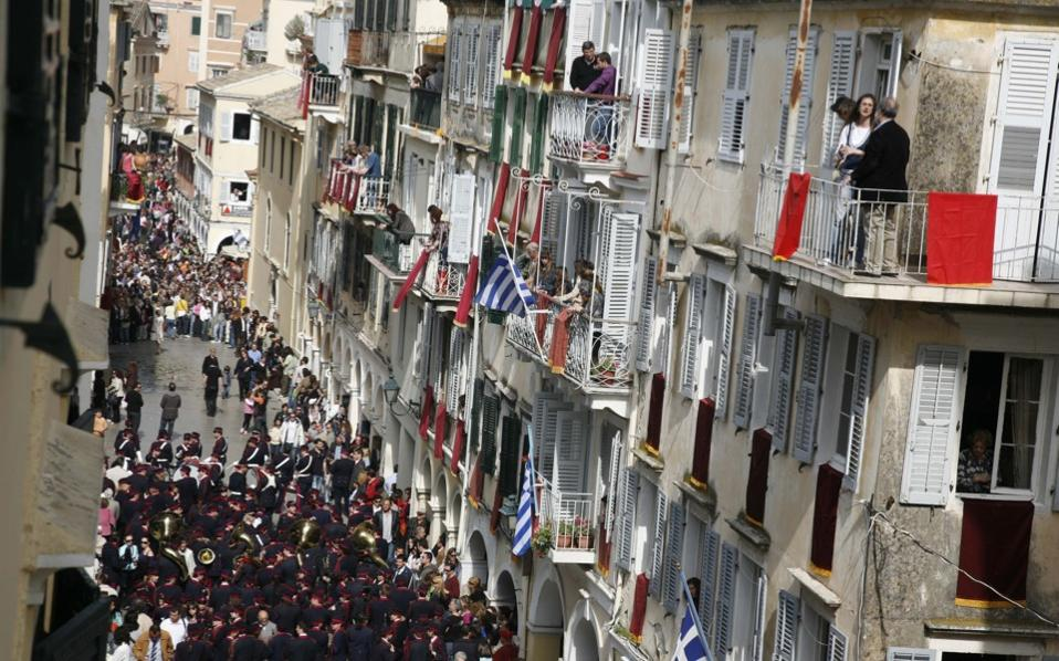 Corfu traditionally pulls large crowds over Easter.