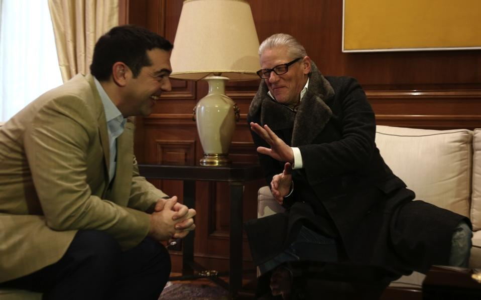 Prime Minister Alexis Tsipras met with Jan Fabre at his office in Athens.