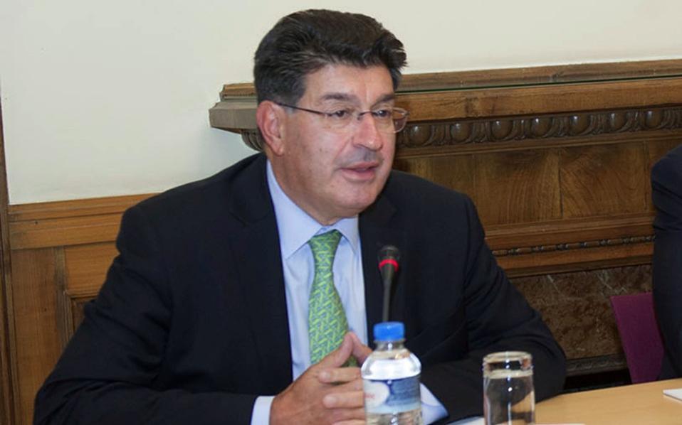 Theodoros Fessas, the head of the Hellenic Federation of Enteprises.