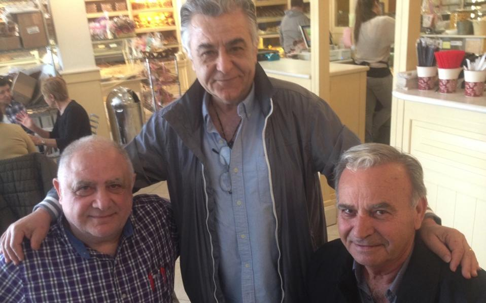 Panayiotis Doukas, Giorgis Papadopoulos and Nikos Stergiou, all of them diehard Trump supporters.