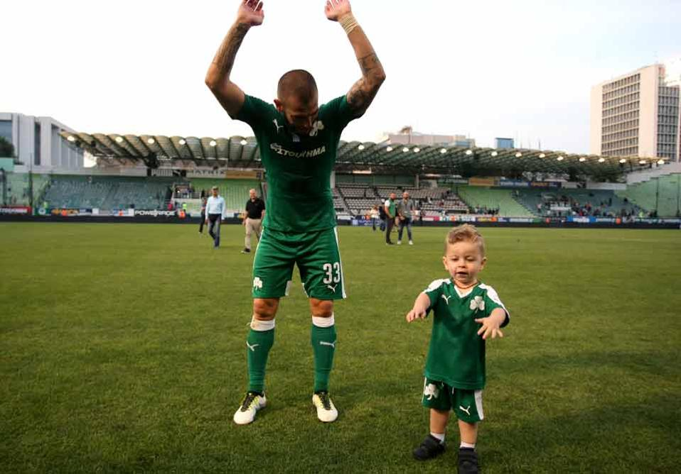 Mladen Petric and his son.