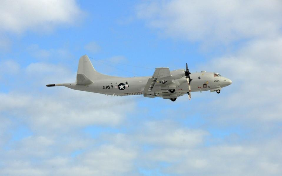 This US Navy photo shows a P-3C Orion, after taking off from the NAS Jax runway on the morning of December 9, 2015 in Jacksonville, Florida. The US Navy has deployed a long range P-3 Orion surveillance plane to help search for the wreckage of the EgyptAir flight that crashed into the Mediterranean on Thursday, officials said.