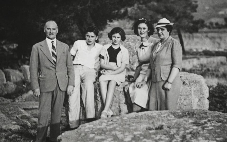 The Zonaras family on an excursion during the interwar years.