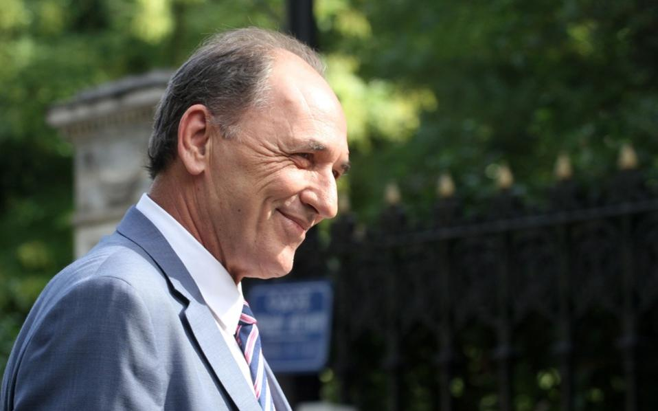 Economy Minister Giorgos Stathakis seen in a file photo.