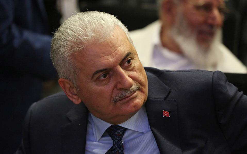 Turkish Prime Minister Binali Yildirim in a file photo.