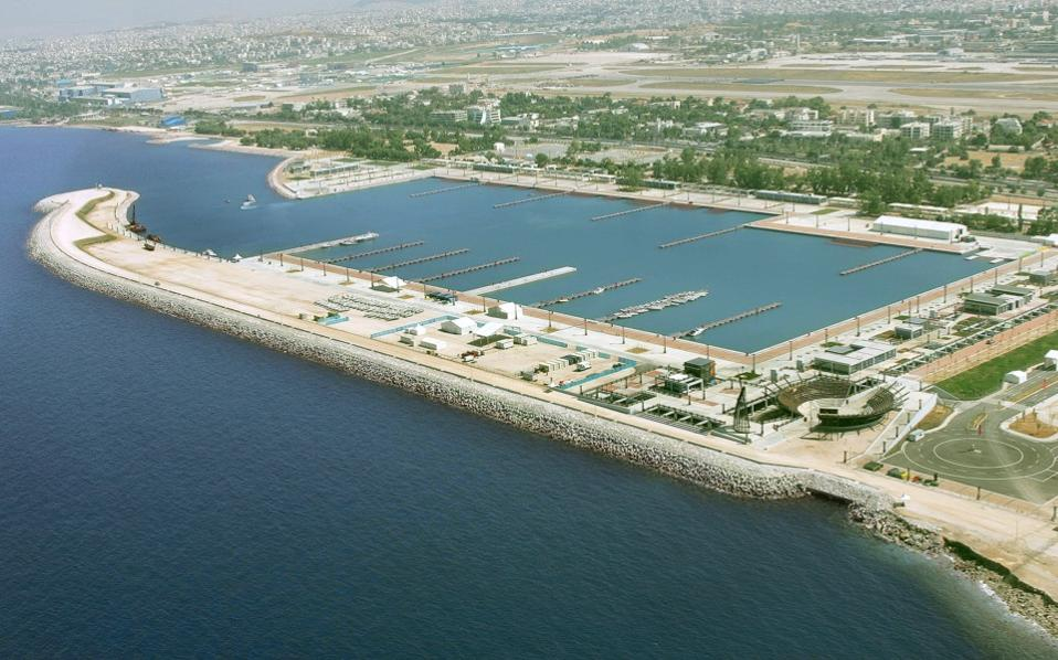 An aerial shot of the former Olympic facilities at Aghios Cosmas, near the old airport at Elliniko. Because of its size, development of this area is expected to spearhead major changes.