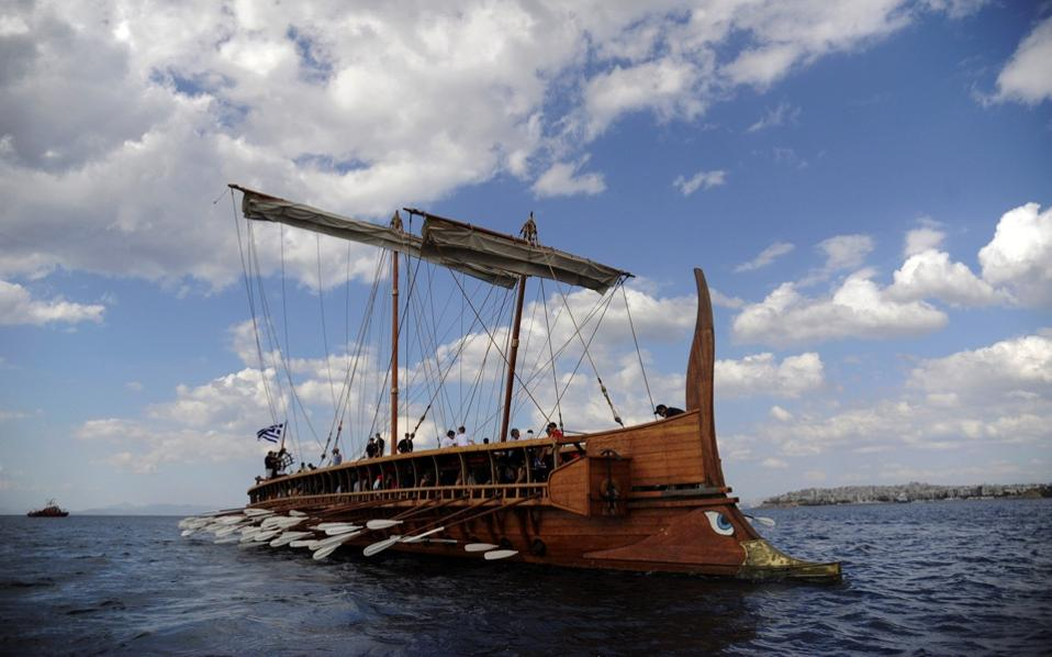 Reconstruction of ancient Athenian trireme sails into the ...