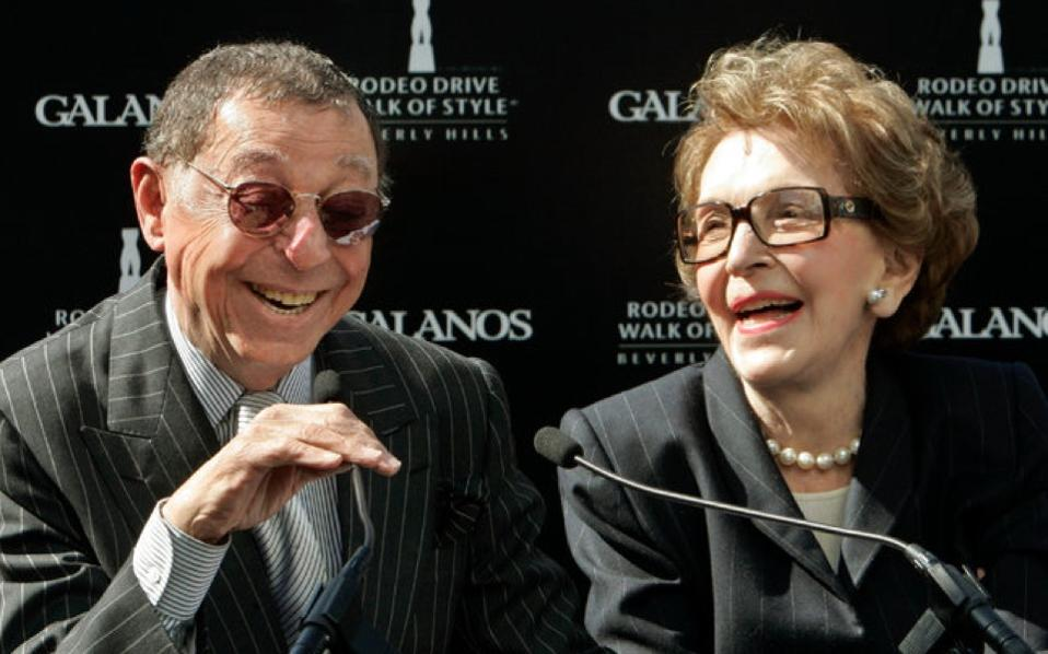 James Galanos and Nancy Reagan in 2007.