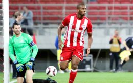 a scored twice for Olympiakos against Astana.