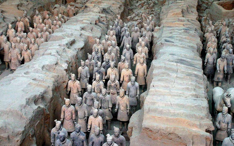 Qinshihuang's Terracotta Warriors may be inspired by Greece