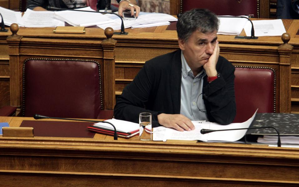 Finance Minister Euclid Tsakalotos to update the draft budget.