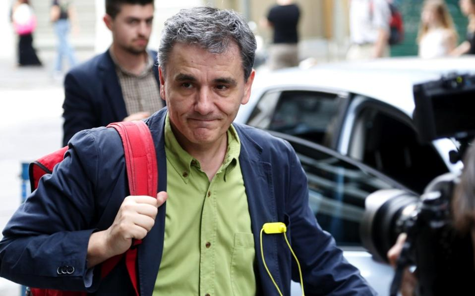 Finance Minister Euclid Tsakalotos