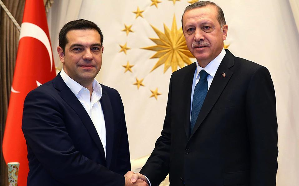 Alexis Tsipras and Recep Tayyip Erdogan in a file photo.