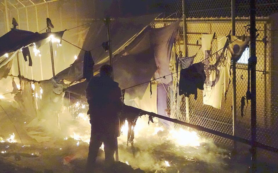 2 dead, 2 injured in fire at Greek refugee camp
