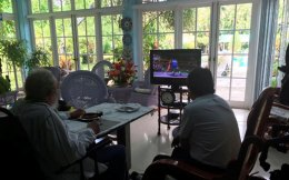 Cuba's former president Fidel Castro and Bolivia's President Evo Morales watch the Rio 2016 Olympic Games on television in this picture taken in Habana, Cuba, in August.