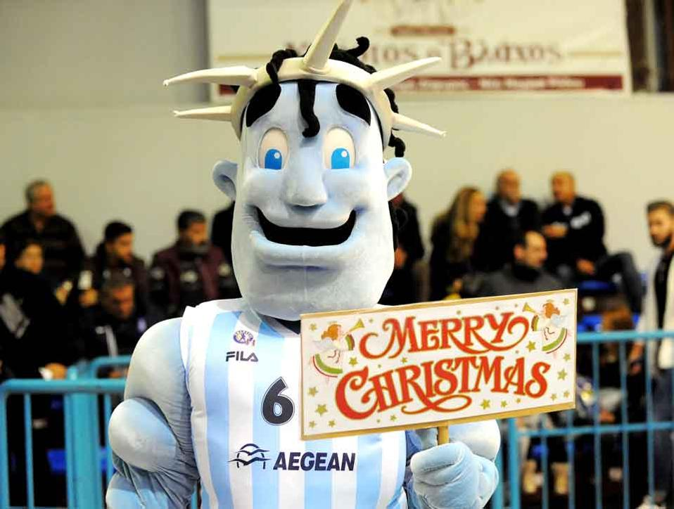 Kolossos Rhodes's mascot had many reasons to celebrate on Monday.