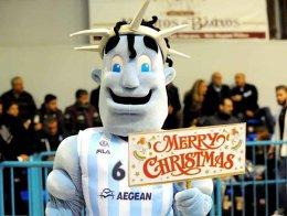 Kolossos Rhodes's mascot had many reasons to celebrate on Monday.
