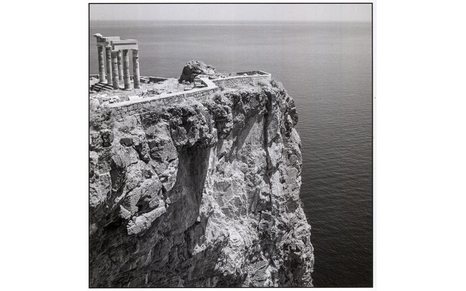 The acropolis in Lindos on the island of Rhodes in 1954.