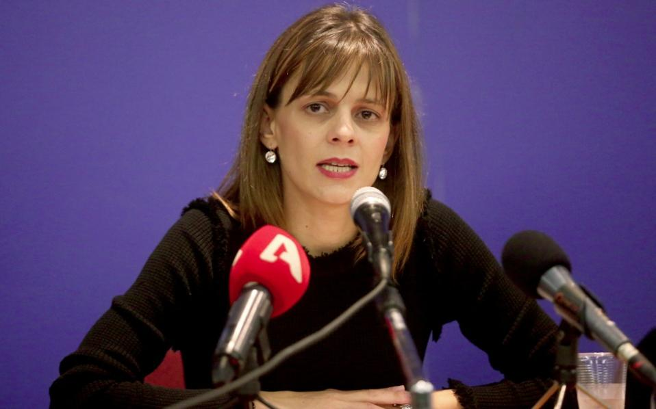 Labor Minister Efi Achtsioglou