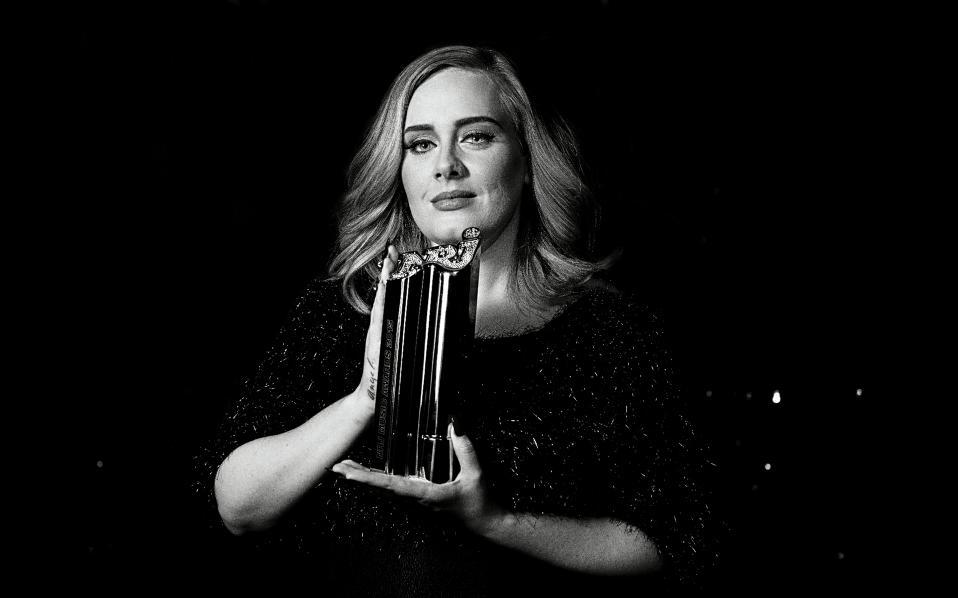 English singer-songwriter Adele.
