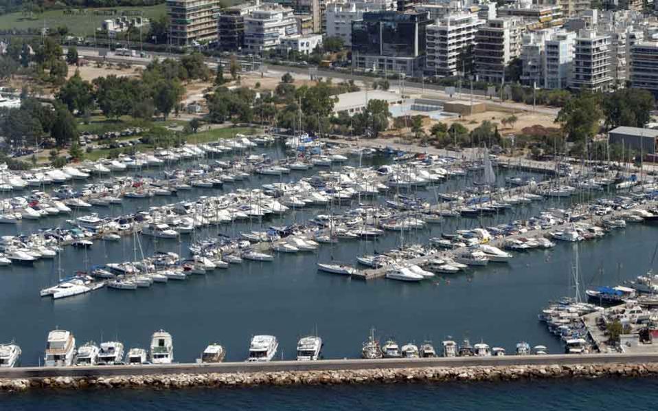 The marina at Alimos, southern Athens.