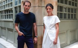 Eleni Petaloti and Leonidas Trampoukis, owners of the LOT architectural and design firm, which has offices in Thessaloniki and New York.