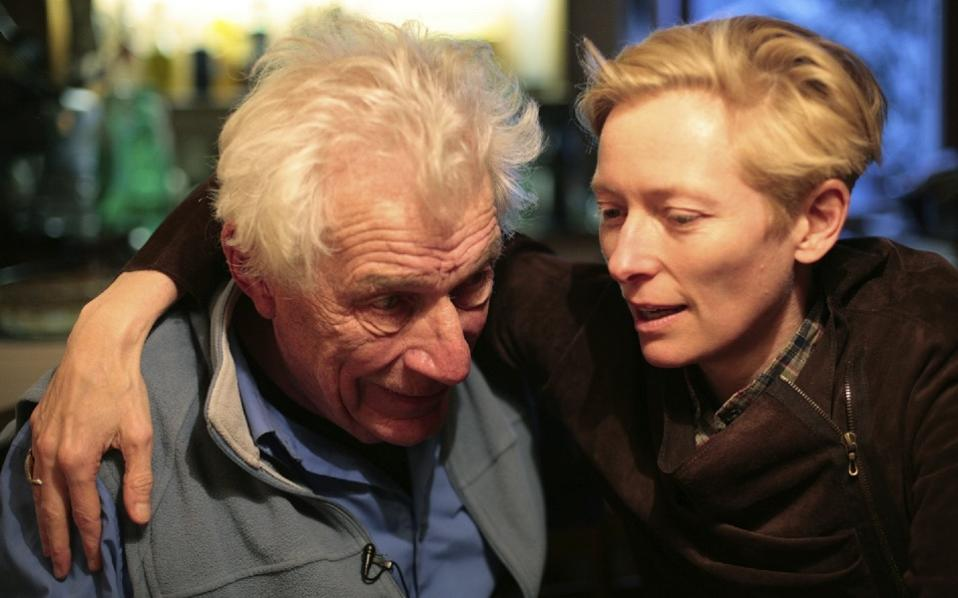 'The Seasons in Quincy: Four Portraits of John Berger,' is a multi-faceted portrait of the late artist, writer and critic. It was conceived by Berger's actress friend Tilda Swinton (right).