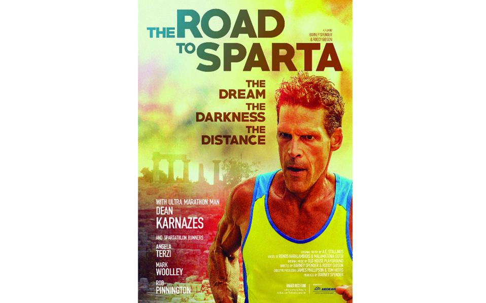 The poster of the film, featuring ultramarathon man Dean Karnazes.