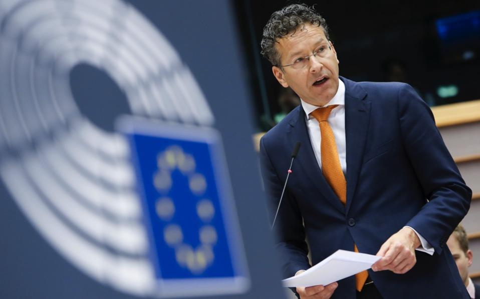 Eurogroup Chairman Jeroen Dijsselbloem said Greece's Parliament must approve a new raft of measures by the end of May