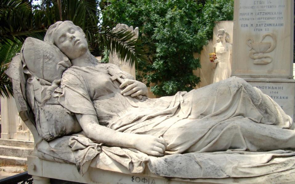 Yiannoulis Halepas's 'Sleeping Girl' was sculpted for a young woman who committed suicide at the age of 18, in 1878, after her father prevented her from being with her beloved, an Italian opera singer. (Photo: Nikos Vatopoulos)