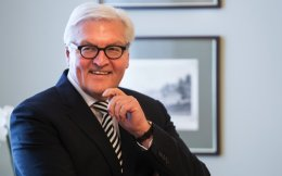 German President Frank-Walter Steinmeier is seen here in a file photo. Asked by Kathimerini about the issue of wartime reparations, the 61-year-old politician said the two countries support different claims.