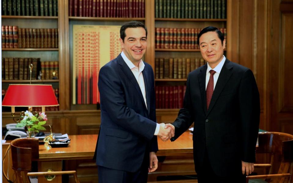 Prime Minister Alexis Tsipras met Liu Qibao, head of the Publicity Department of the Central Committee of the Communist Party of China (CPC) last week