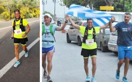 Amalia Matthaiou is one of Greece's greatest long-distance and mountain runners, but her recent participation in the 215 km Euchidios Hyper-Athlos was uncertain after she underwent cancer surgery and radiation therapy in January.
