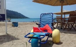 Last summer there were nine floating wheelchairs on the island.