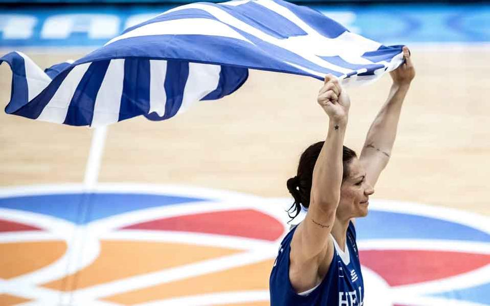 Experienced Evina Maltsi was Greece's top scorer with 25 points.