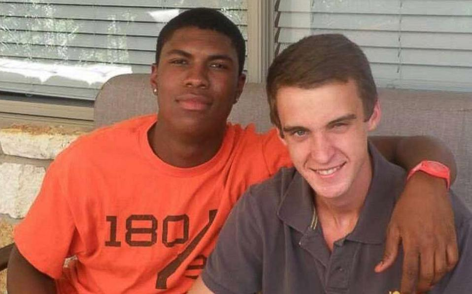 John Gramlich, right, and his friend Bakari Henderson, left, a 22-year-old who was killed while traveling in Greece.