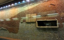 Antiquities on display at metro stations