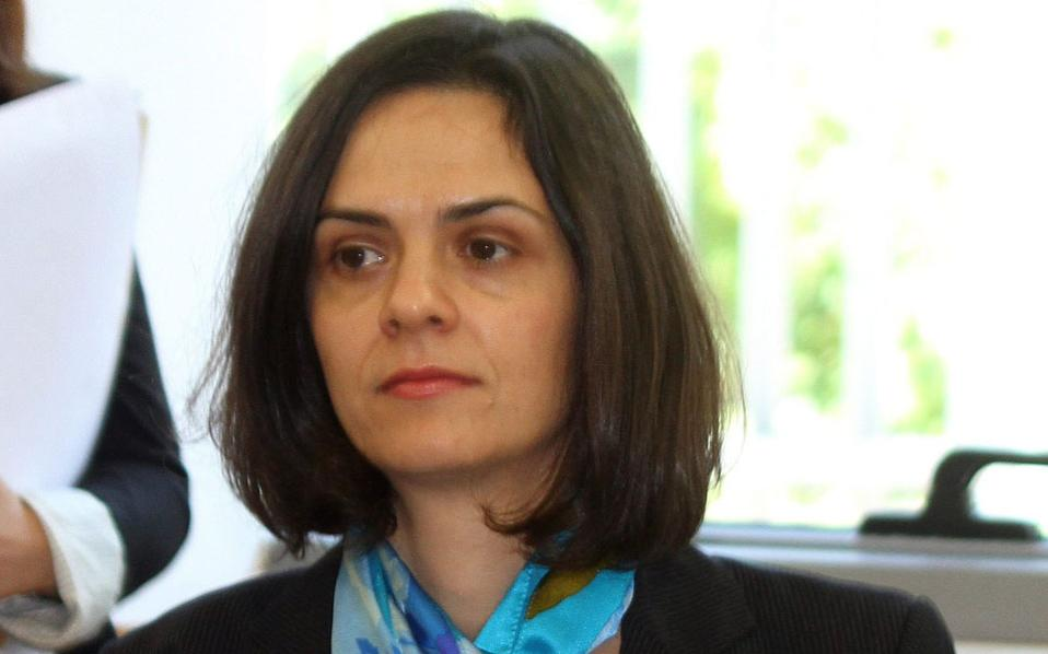 IMF's head of mission to Greece, Delia Velculescu.