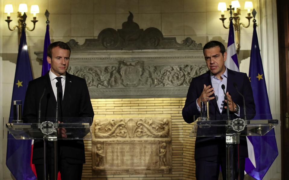 Macron asks French businesses to invest in Greece