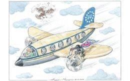 The censored cartoon by Ilias Makris of Kathimerini newspaper.
