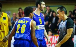 Steven Gray scored 25 points for Lavrio at Rethymno.