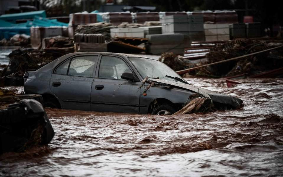 Image result for Greece Heavy Raining Flood Killed Fourteen People