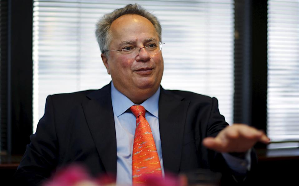 Greek Foreign Minister Nikos Kotzias, seen here in a file photo, wants to resolve the lingering name dispute with FYROM by the end of 2018. His hopes may prove overly ambitious.