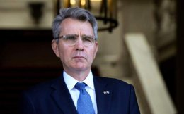 US Ambassador Geoffrey Pyatt (seen here in a file photo) says Greece's government seems determined to improve bilateral ties.
