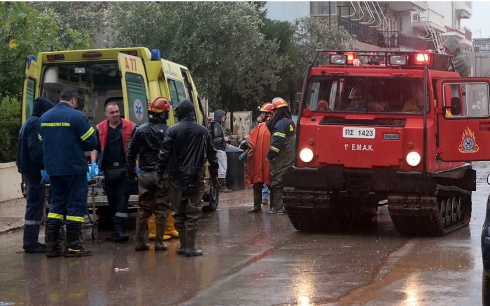 Greek rescue crews search for six people missing after deadly floods