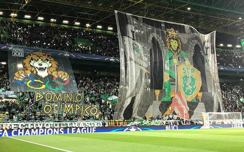 Sporting fans were well prepared for the Olympiakos visit.