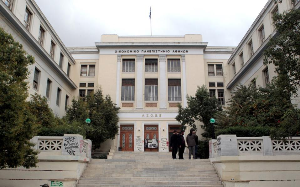 Another problem highlighted by the rector of the Athens University of Economics and Business (AUEB), Emmanouil Giakoumakis, is the flourishing trade of counterfeit goods on university grounds.